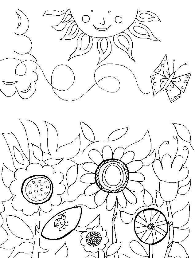 Floarea Soarelui Planse De Colorat Planse De Colorat
