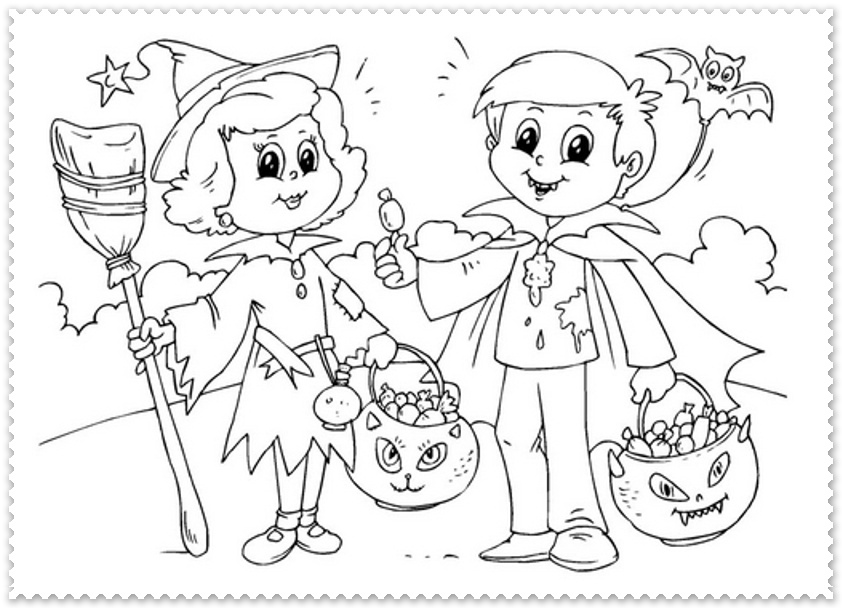 Halloween Pentru Copii Planse De Colorat Planse De Colorat