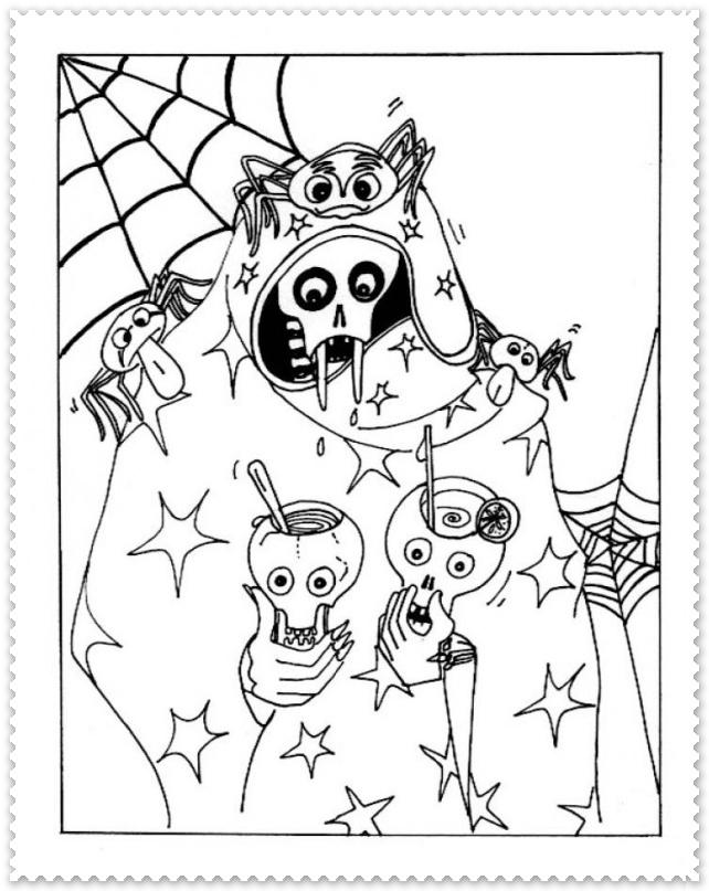 Halloween Party Planse De Colorat Planse De Colorat