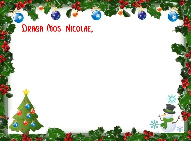 Modele scrisori Mos Nicolae