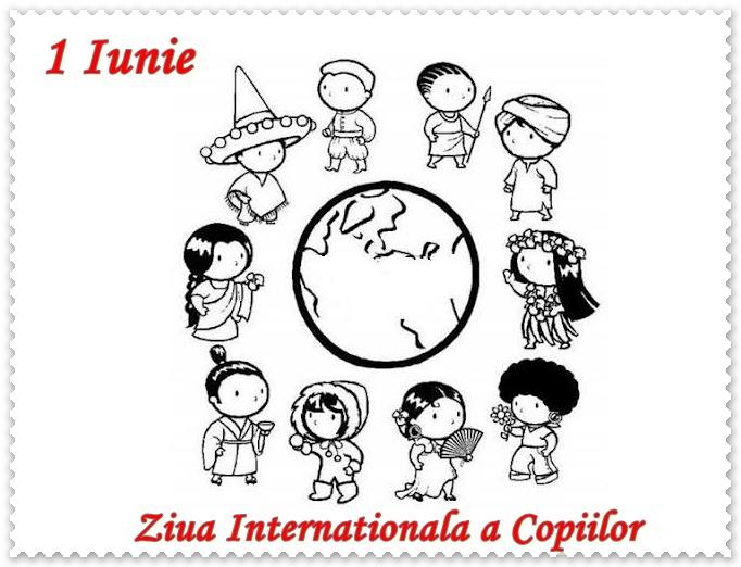 1 Iunie Ziua Copilului Planse De Colorat