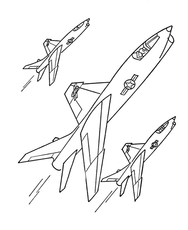 Planse de colorat cu avioane | Planse de colorat