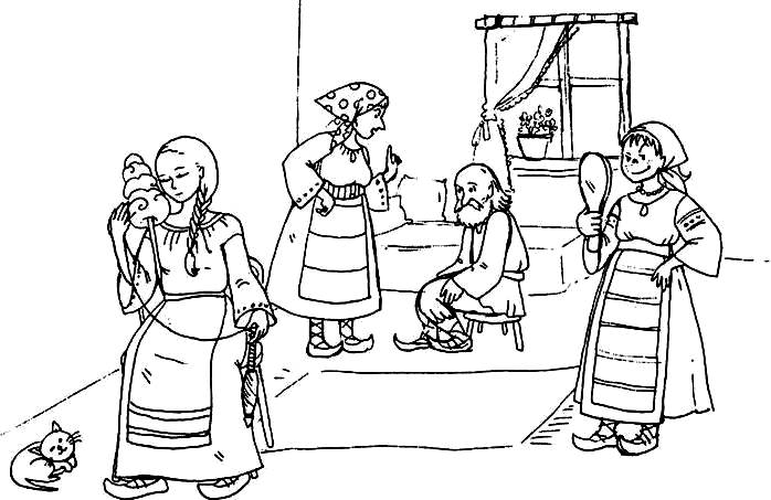 Fata Babei Si Fata Mosneagului Planse De Colorat Planse De