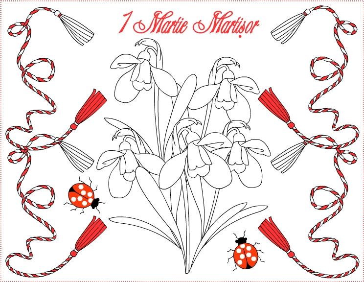 Felicitari Si Planse De Colorat De 1 Martie Martisor