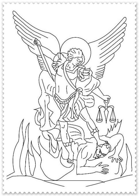 Sfantul Arhanghel Mihail Planse De Colorat Planse De Colorat