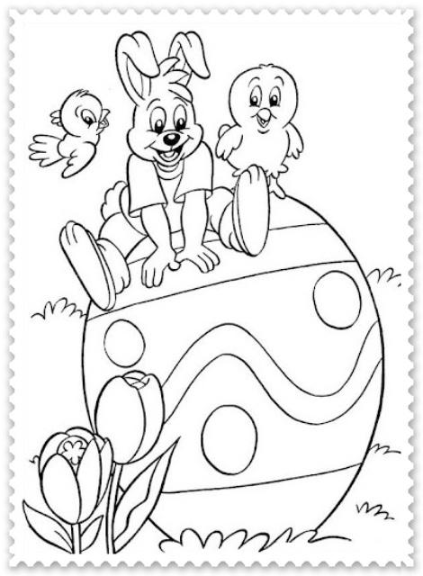Planse De Colorat Pentru Copii De Sarbatoarea De Pasti