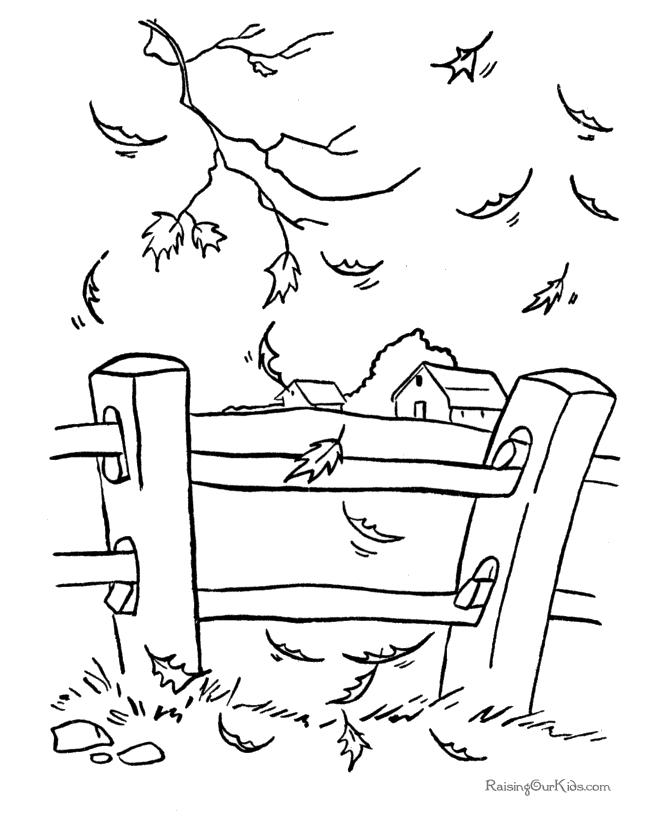 fall scenes coloring pages - photo#26