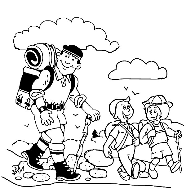forest hiking trails coloring pages - photo#37